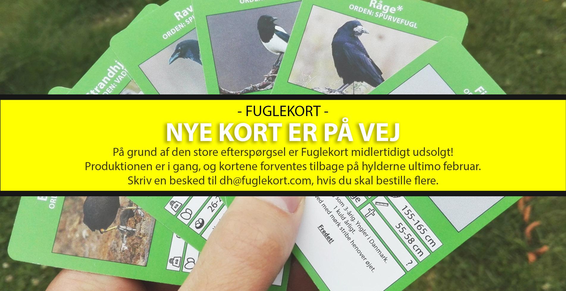 Fuglekort - Nye kort på vej